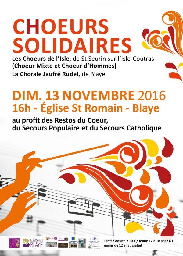 Concert Chœurs Solidaires 2016 – Affiche