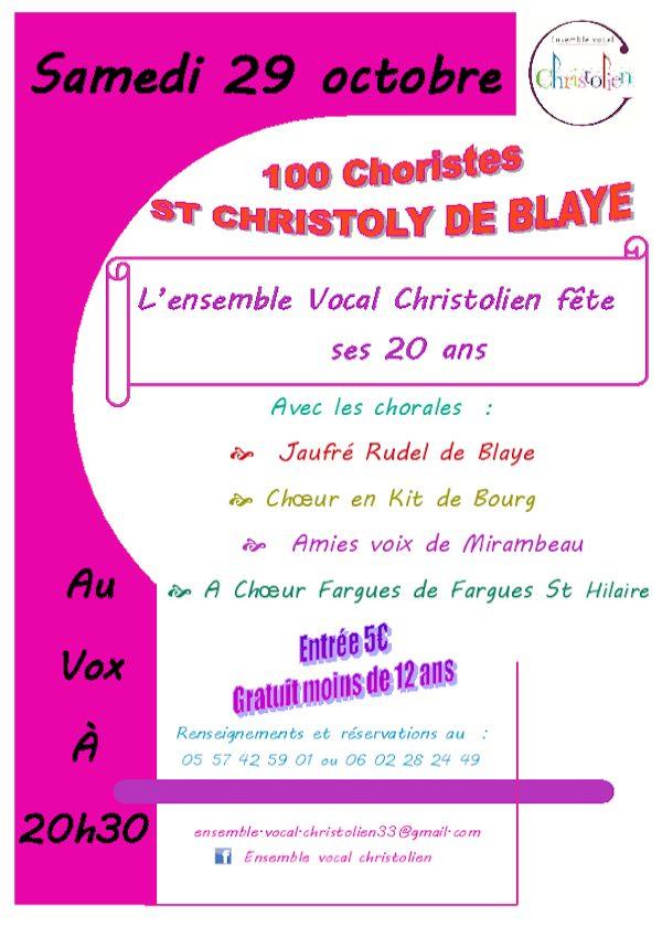 Concert Ensemble vocal christolien 2016 – Affiche